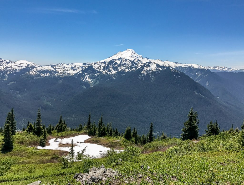 View of Mount Baker from Goat Mountain knoll