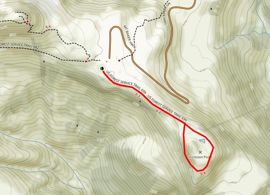 Huntoon Point Trail Map