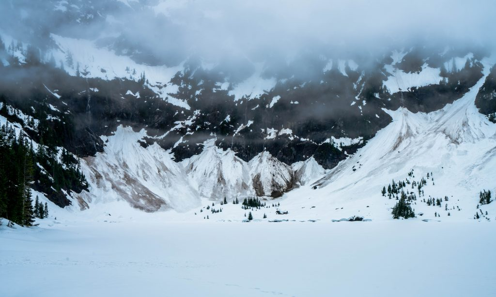 Snow covered Lake 22 with Pilchuck looming above - A7RII