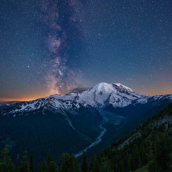 Summer Milky Way, Mount Rainier National Park